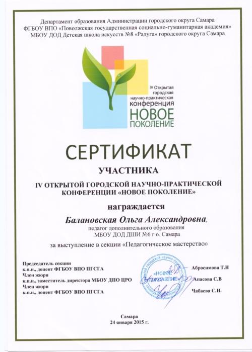 сертификат участника 001